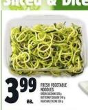 Fresh Vegetable Noodles Green Zucchini 320 g - Butternut Squash 340 g Vegetable Blend 320 g