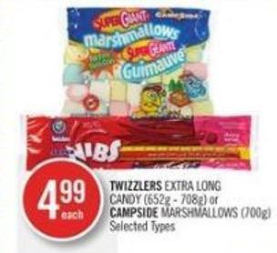 Twizzlers Extra Long Candy (652g - 708g) or Campside Marshmallows (700g)