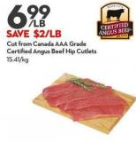 Cut From Canada Aaa Grade Certified Angus Beef Hip Cutlets