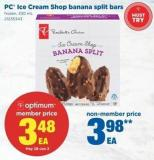 PC Ice Cream Shop Banana Split Bars - 330 mL