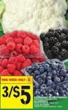 Raspberries Or Blackberries Or Blueberries Or Cauliflower