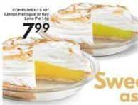 Compliments 10in Lemon or Key Lime Meringue Pie 1 Kg