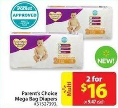 Parent's Choice Mega Bag Diapers