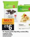 PC Organic Tortilla Chips - 240 G - Crackers - 200 G Or Popcorn - 150 G