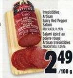 Irresistibles Artisan Spicy Red Pepper Salami