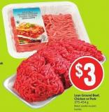 Lean Ground Beef - Chicken or Pork 375-454 g