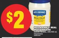 Hellmann's Real Mayonnaise - 340/445 mL