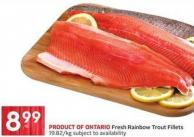 Fresh Rainbow Trout Fillets 19.82/kg Subject To Availability