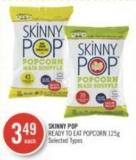 Skinny Pop Ready To Eat Popcorn 125 g