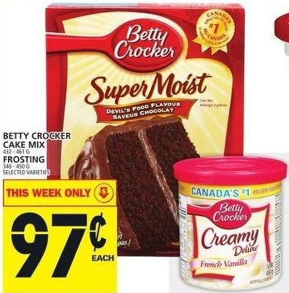 Betty Crocker Cake Mix 432 - 461 G Frosting 340 - 450 G
