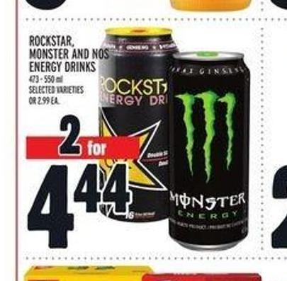 Rockstar - Monster And Nos Energy Drinks