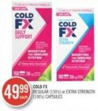 Cold-fx Regular (150's) or Extra Strength (100's) Capsules