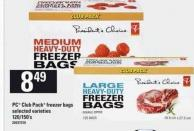 PC Club Pack Freezer Bags - 120/150's