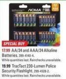 Noma Aa/24 and Aaa/24 Alkaline Batteries