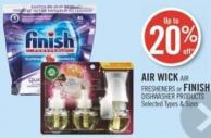 Air Wick Air Fresheners or Finish Dishwasher Products