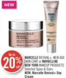 Marcelle Revival+ - New Age Skin Care or Maybelline New York Makeup Products