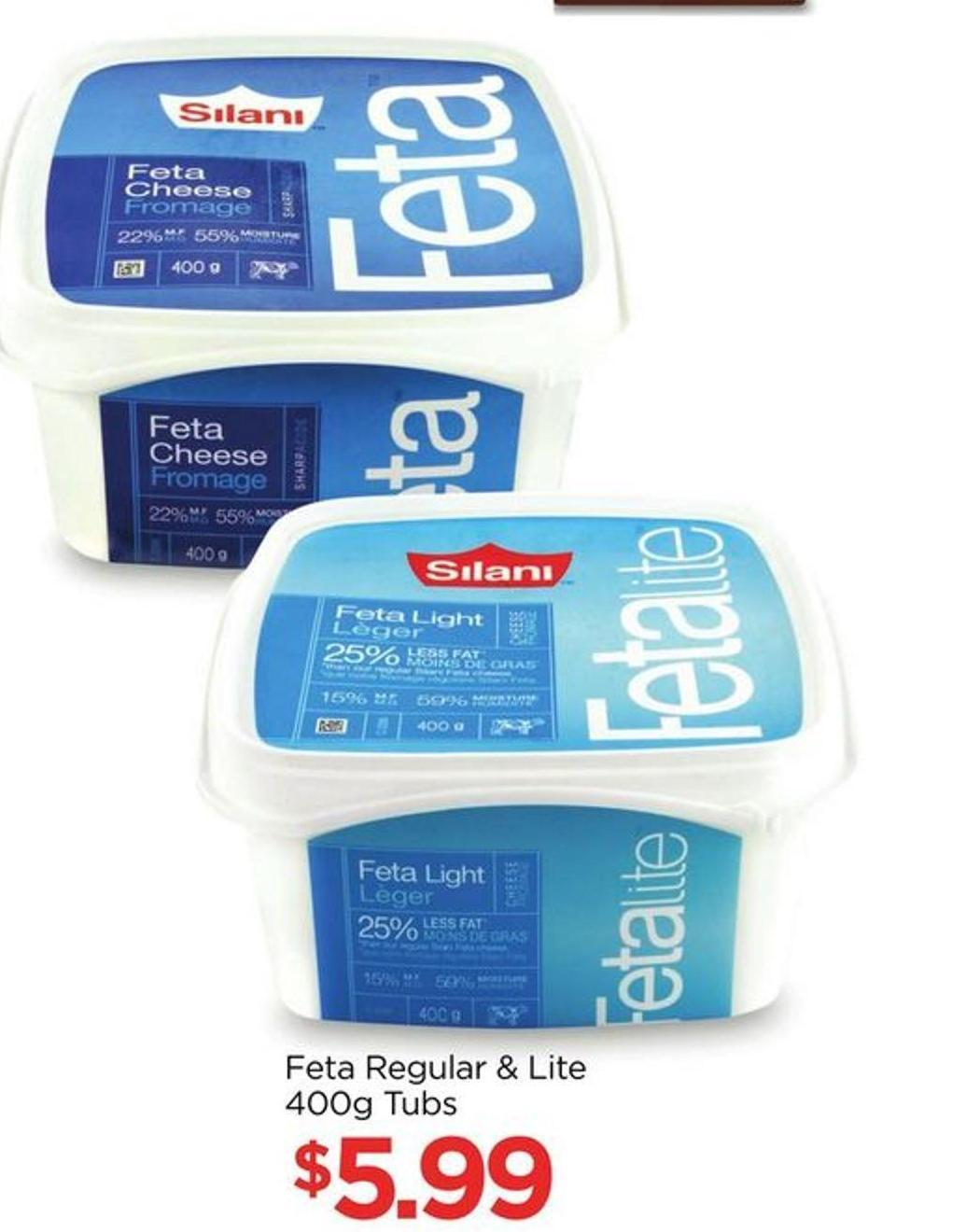 Feta Regular & Lite 400g Tubs