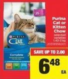 Purina Cat Or Kitten Chow .1.42-2 Kg