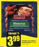 Schneiders Juicy Jumbos or Smoked Sausages 375-450 g