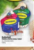 Butterball Frozen & Stuffed Whole Turkey