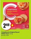 Compliments Original Round Melba Toast 110 g