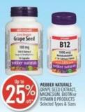 Webber Naturals Garpe Seed Extract - Magnesium - Biotin or Vitamin B Products