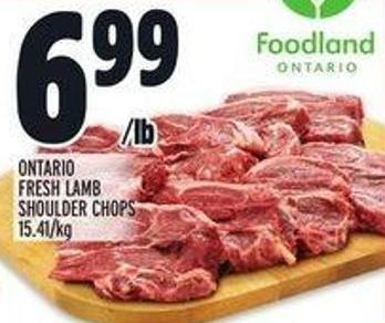 Ontario Fresh Lamb Shoulder Chops