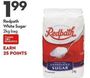 Redpath White Sugar 2kg Bag