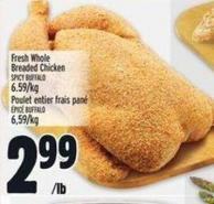 Fresh Whole Breaded Chicken