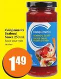 Compliments Seafood Sauce 250 mL Sauce Pour Fruits
