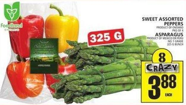 Sweet Assorted Peppers Or Asparagus