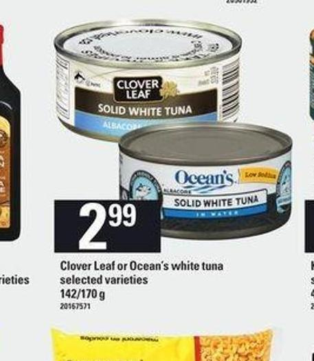 Clover Leaf Or Ocean's White Tuna - 142/170 g