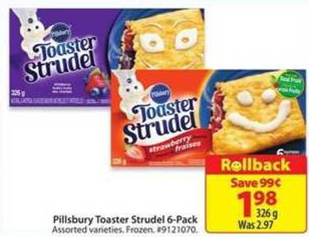 Pillsbury Toaster Strudel 6-pack