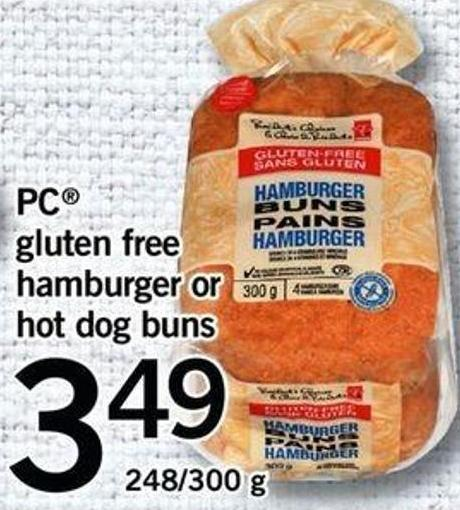 PC Gluten Free Hamburger Or Hot Dog Buns - 248/300 G
