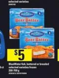 Bluewater Fish - Battered Or Breaded - 260-700 g
