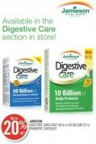 Jamieson Digestive Care Daily (45's) or 60 Billion (21's) Probiotic Capsules