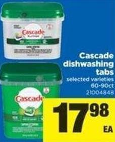 Cascade Dishwashing Tabs - 60-90ct
