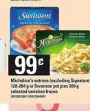 Michelina's Entrées (Excluding Signature) - 128-284 g Or Swanson Pot Pies - 200 g