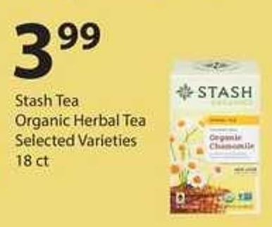 Stash Tea Organic Herbal Tea - 18 Ct