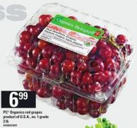 PC Organics Red Grapes - 2 Lb