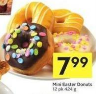 Mini Easter Donuts 12 Pk 424 g
