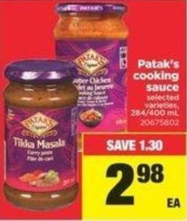 Patak's Cooking Sauce - 284/400 Ml