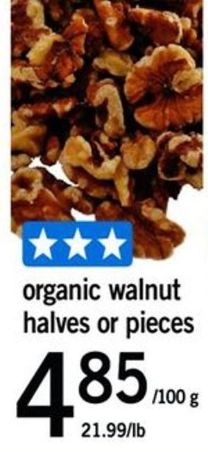 Organic Walnut Halves Or Pieces