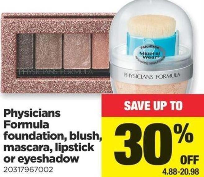 Physicians Formula Foundation - Blush - Mascara - Lipstick Or Eyeshadow