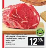 Cap Off Prime Rib Premium Oven Roast Or Steak - Beef Or Higher