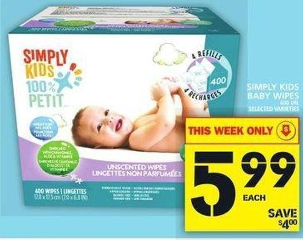 Simply Kids Baby Wipes