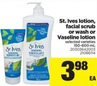 St. Ives Lotion - Facial Scrub Or Wash Or Vaseline Lotion.150-600 mL
