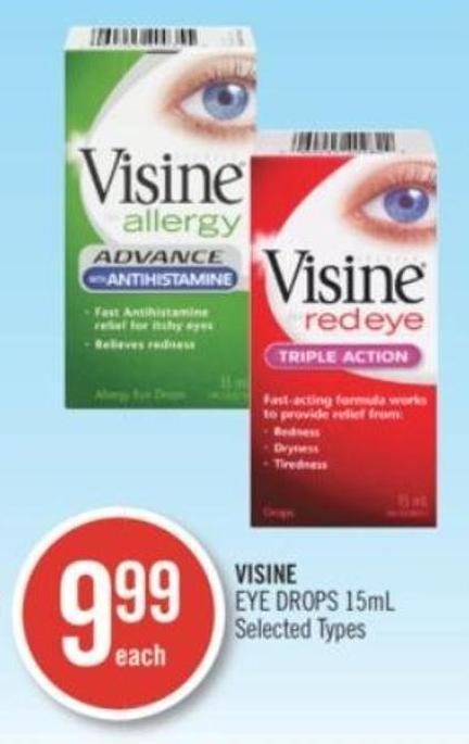 Visine Eye Drops 15 mL