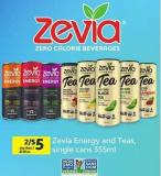Zevia Energy And Teas - 355ml