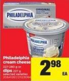 Philadelphia Cream Cheese 227-280 g or Dips 227 g